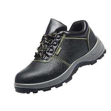Homyl Zapatos de Seguridad para Hombres de Cuero Artificial de Alta Calidad y Grueso Durable para