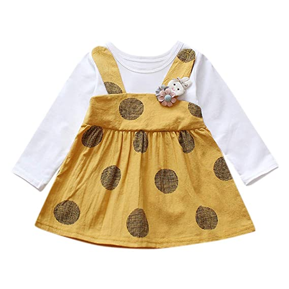 Vestido Lunares Conejo Niñas K-Youth Ropa Bebe Recién Nacido Niña ...
