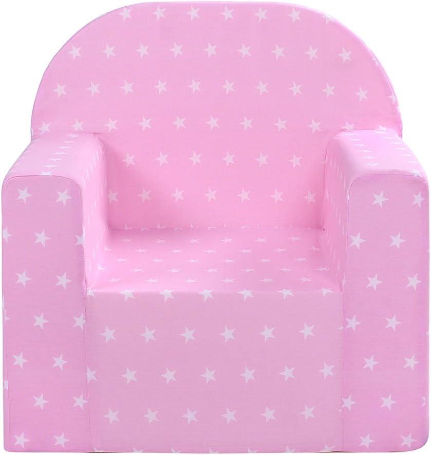3 kg Lulando Classic Poltrona Sedia per Bambini Baby Bambini Couch Mini Sedia Bambini Mobili per Sala Giochi e Camerette dei Bambini Pinkstars