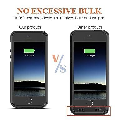 Amazon.com: Euhan - Funda con batería para iPhone 5 y 5S ...
