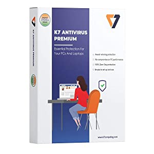 K7 Antivirus Premium- 1 User, 1 Year (Email Delivery in 2 hours - No CD)
