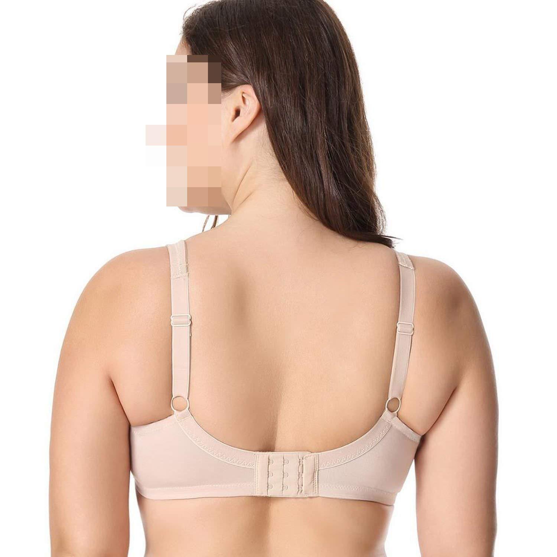 Bra Women Comfort V-Neck No Padding Underwire Minimizer Hot Pink05,Dd,38