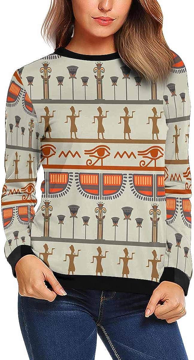 INTERESTPRINT Womens Long Sleeve Sweatshirt Cute Polka Dot Crew Neck Pullover Tops