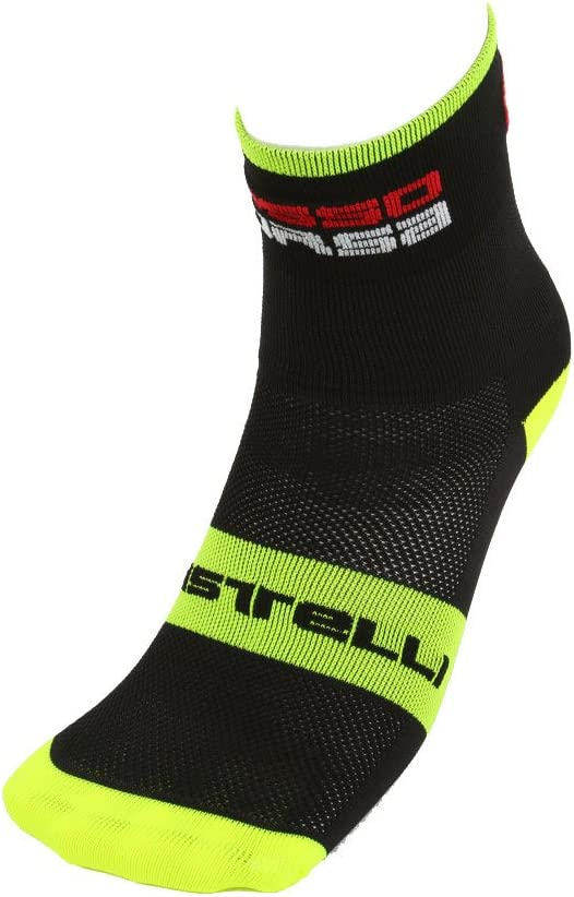 Ultralight Odor Resistant Socks for Winter and Summer Castelli Mens Moisture Wicking Rosso Corsa 6 Cycling Socks