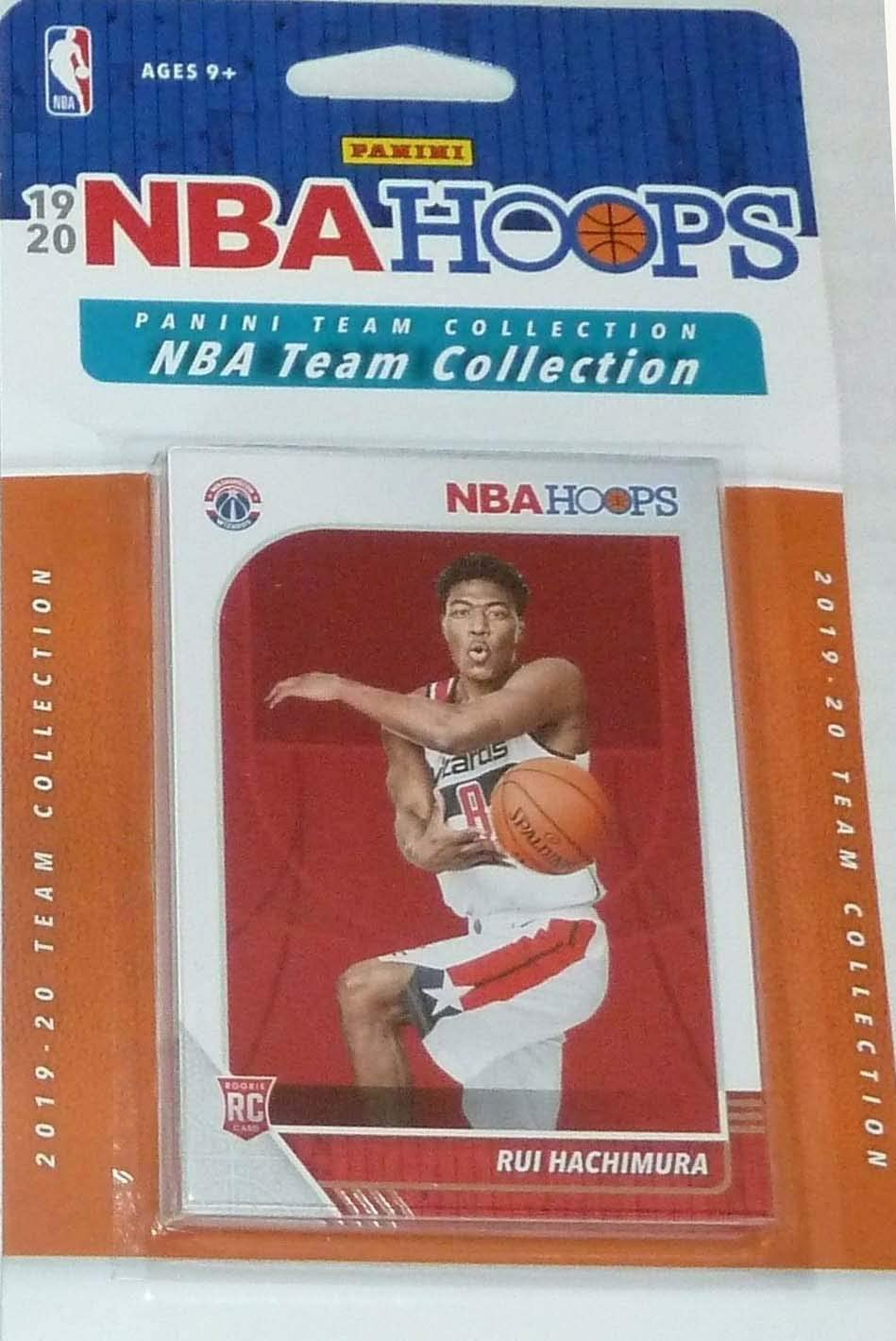 Washington Wizards 2019 2020 Hoops Basketball Factory Sealed 8 Card Team Set with Bradley Beal, John Wall and a Rui Hachimura Rookie Card Plus