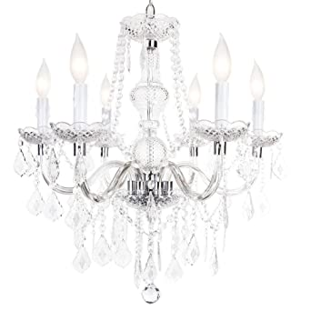 Maria theresa 6 light chandelier chrome amazon maria theresa 6 light chandelier chrome aloadofball Choice Image