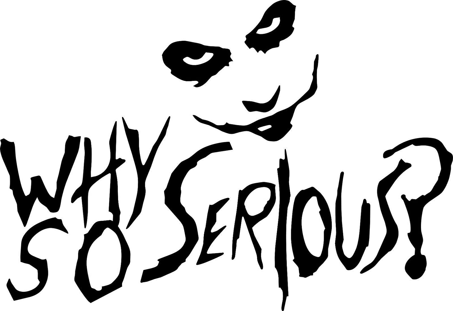 Amazon com alldecals shopforallyou stickers decals color canary yellow joker why so serious sticker vinyl decal suicide squad harley quinn batman