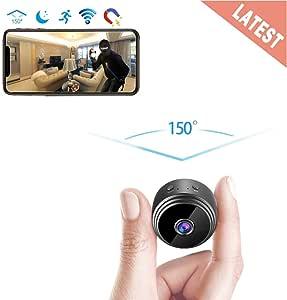 GXSLKWL Perfect Hidden Camera 1080P Home Security Nanny Camera Mini Hidden Camera, Super Night Vision Portable Small Wireless Surveillance Camera (Color : +16G Memory Card)