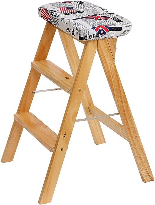 Kitchen stool Taburetes Escalera Escalera Plegable, Taburete Plegable portátil Taburete Plegable al Aire Libre para el hogar Taburete Alto Multifuncional Taburete Plegable Creativo Taburete Plegable: Amazon.es: Hogar