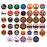 Coffee Variety Sampler Pack, Assorted Coffee KCups and Single Serve Pods with No Duplicates - for Keurig K Cup Machines, 40 Count - Great Coffee Gift