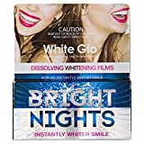White Glo Bright Nights Dissolving Whitening Films, 6 Count (Pack of 9)