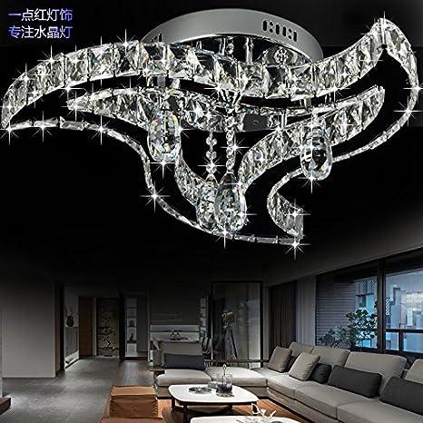 Girar-tipo lujo moderno cristal lámpara de techo LED ...