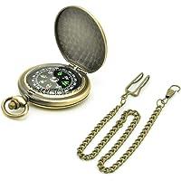 Binken Kompas, Vintage Kompas Outdoor Kompas Retro Kompas Zakhorloge Kompas Gereedschap voor Kamperen Wandelen Rijden
