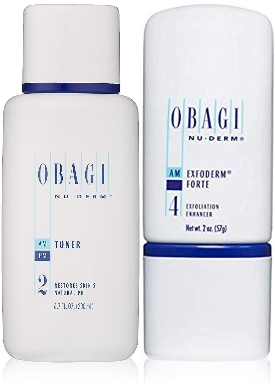 Obagi Nu-Derm Toner, 6.7 Fl Oz and Obagi Medical Nu-Derm Exfoderm Forte, 2 oz