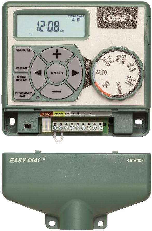 Orbit 4 Station Easy Dial Sprinkler Irrigation Timer Gardening ...