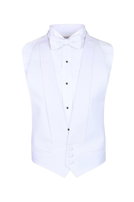 S.H. Churchill & Co. White Pique Vest & Bow Tie