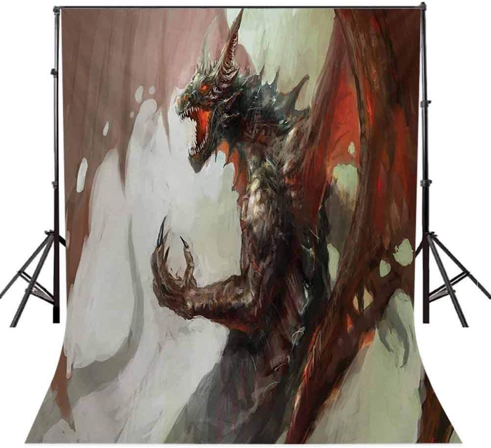 10x12 FT Photography Backdrop Ilustration of Mythological Legendary Creature Dragon Imaginary Culture Animal Art Background for Photography Kids Adult Photo Booth Video Shoot Vinyl Studio Props