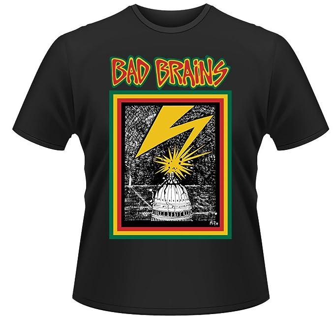 Bad Brains Hardcore Punk Heavy Metal Rock oficial Camiseta para hombre (Small)