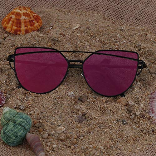 protection étoile œil de UV Lunettes réfléchissant d'été pour femme de Style de chat Vacances soleil PRxwt5F