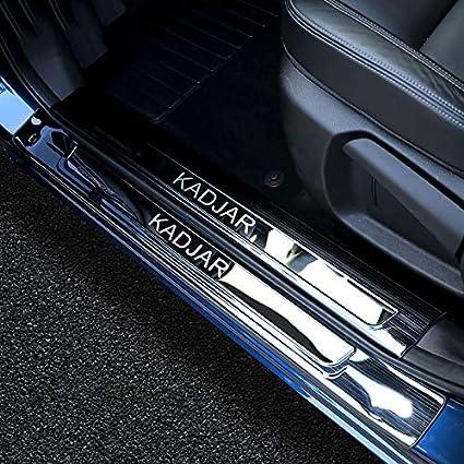 f/ür Renault kadjar 2015 2016 2017 2018 XHULIWQ Hochwertige edelstahlplatte einstiegsleiste willkommen Pedal Auto Styling zubeh/ör