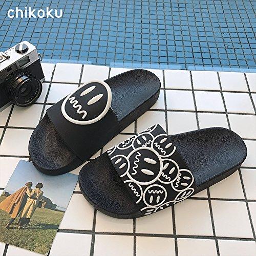 stanze pantofole fresco 37 fankou da sandali Le coppie dispongono suite slittamento e en estate cartoon in una Stare spesso bagno uomini bagno nero da di anti vasca 44q5z1w