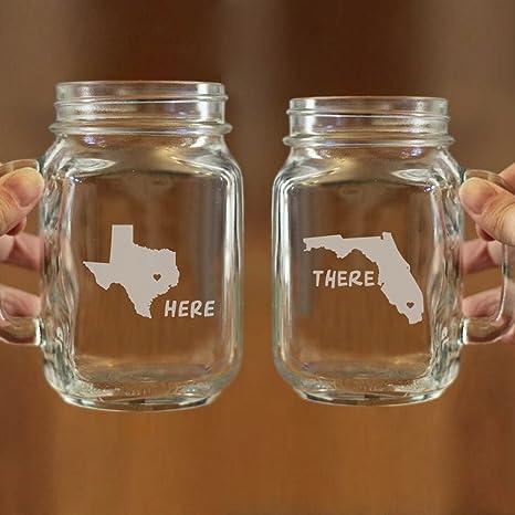 amazon com long distance relationship mug gifts personalized mason