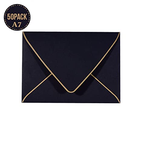 amazon com a7 black envelopes 5 x 7 50pack for 5x7 cards self