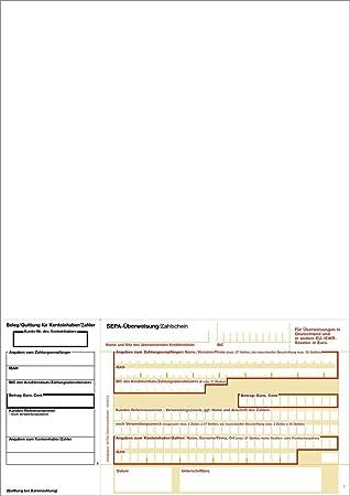 Bits&Paper BP0108 SEPA-Überweisung mt Quittung/Zahlschein (100 Blatt ...