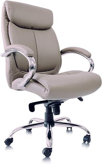 Bürostuhl Kunstleder Caramel Schreibtischstuhl ergonomisch Chefsessel Drehstuhl