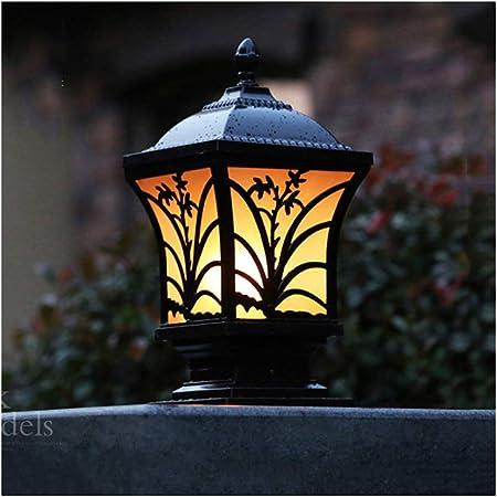 LJIANW-Farolas Jardin Exterior LED Pedestal De Jardín E27 Lámpara De Tapa De Cubierta Impermeable Aluminio Baja Tensión Al Aire Libre Iluminación Patio Decoración, 3 Tamaños: Amazon.es: Hogar