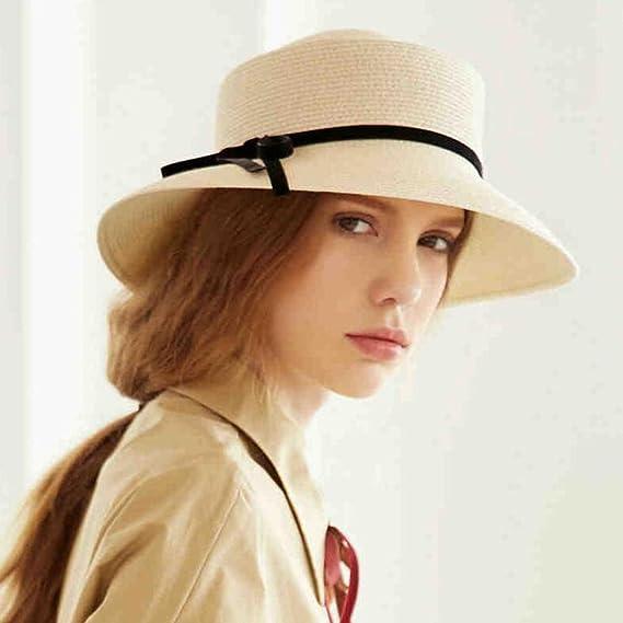 YXINY Viseras Sombrero De Paja De Mujer Bombín Sombrero De Visera Estilo  Francés Verano Cubo Sombreros Hembra  Amazon.es  Jardín 01f037369ec