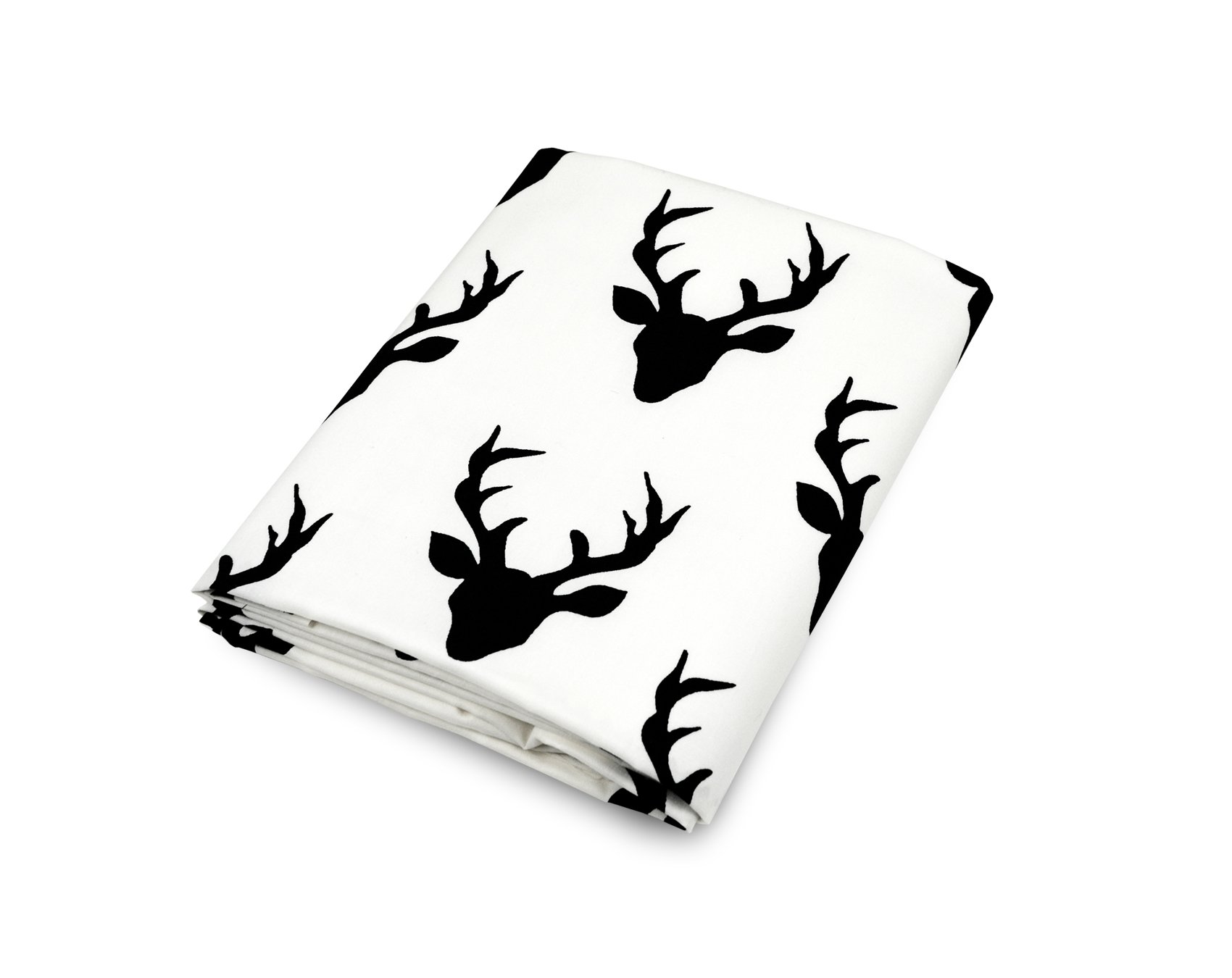 Olli & Lime Deer Crib Sheet, Black/White by Olli & Lime