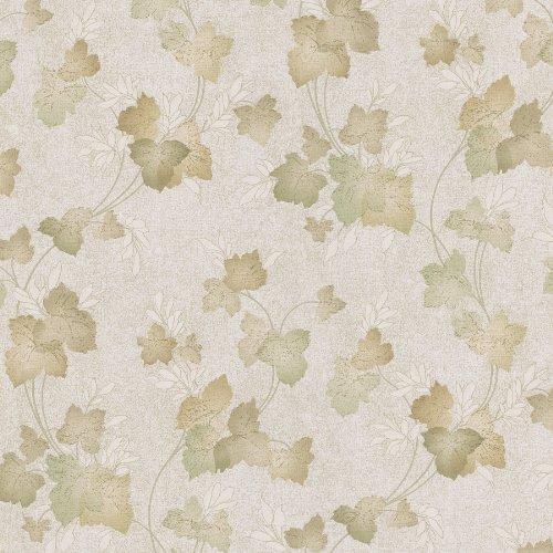 (Mirage 988-58617 Dorian Leaf Trail Wallpaper, Olive )