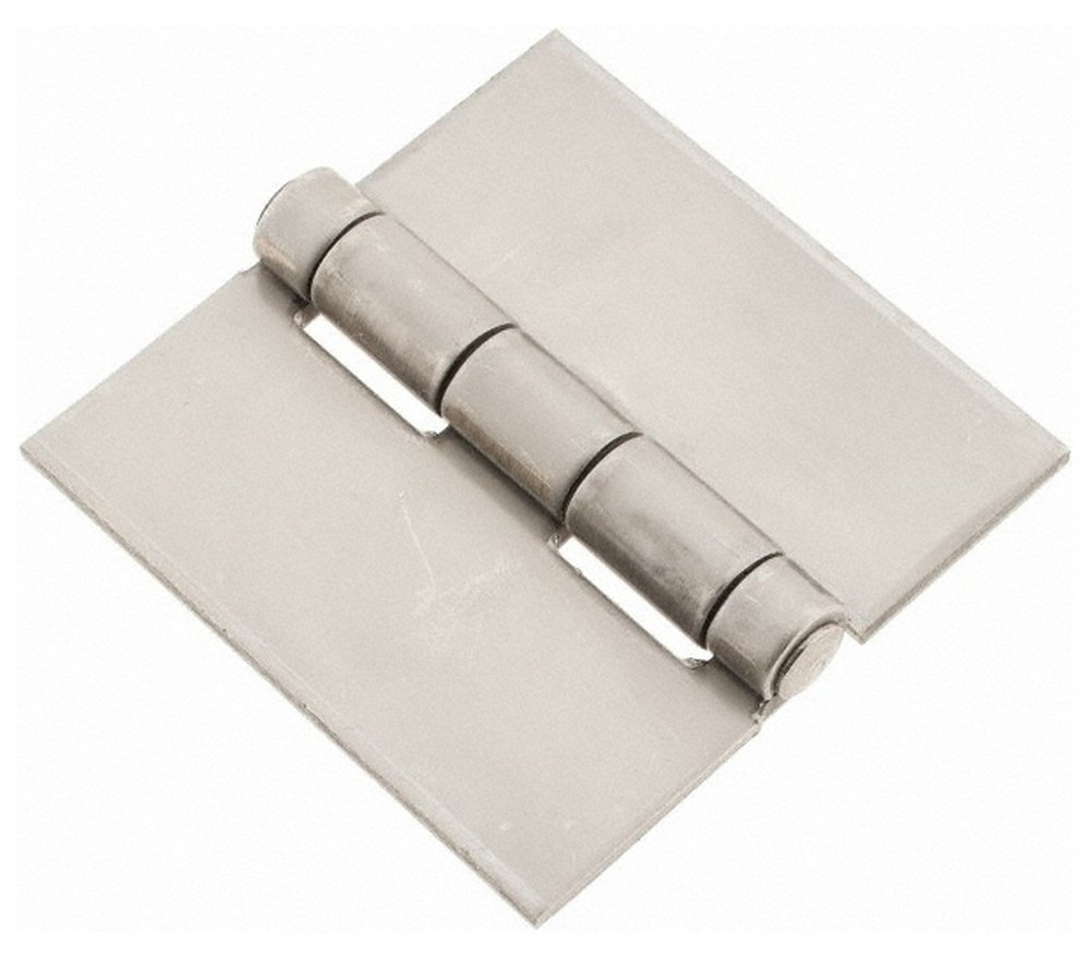 3'' Wide x 1/8'' Thick, Blank Butt Hinge, Stainless Steel, Polished Finish