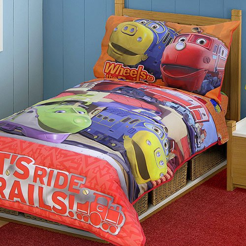 Chuggington Toddler Bedding Set - 4pc Ride Rails Comforter Bed Set by The Betesh Group (Image #2)