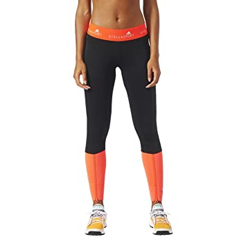 34373ead5b6b14 adidas StellaSport Womens Long Running Tights - Black: Amazon.co.uk ...