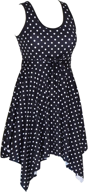 DANIFY Womens Slimming Tummy Control Swimdress Plus Size Swim Dress Retro Skirt Swimming Suit