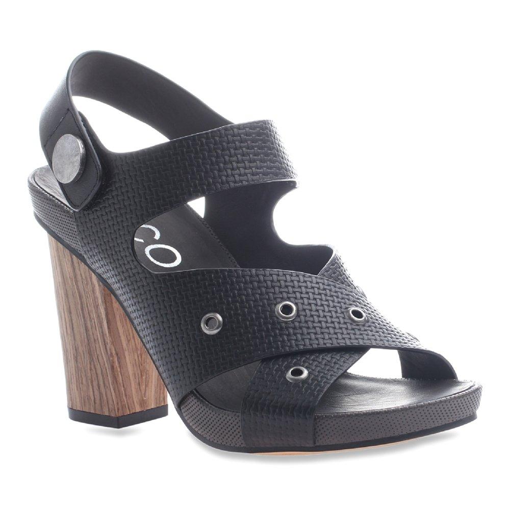 nicole Women's Noemi Wedge Sandal B018F1I2LE 10 B(M) US Black