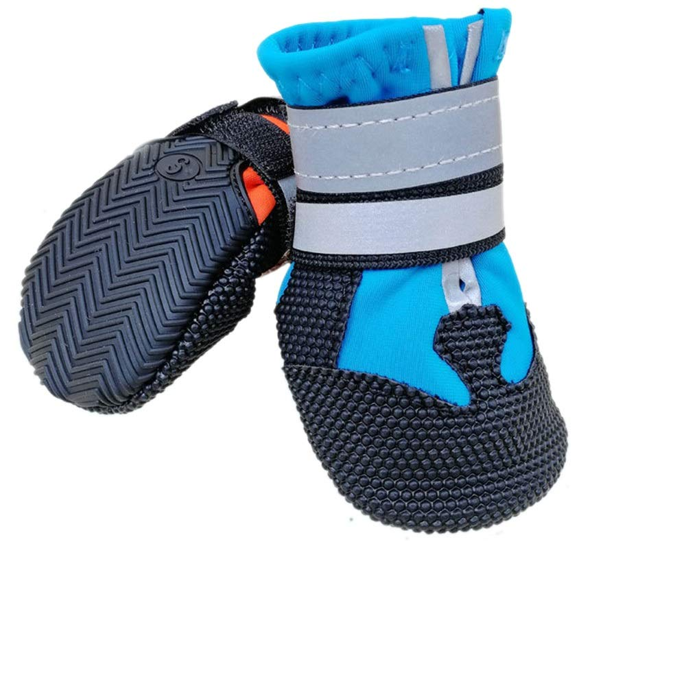 bluee L bluee L Huayue Wear-Resistant Non-Slip Waterproof Pet Dog shoes Cover Spiritualist and Prominent Dog shoes (color   bluee, Size   L)
