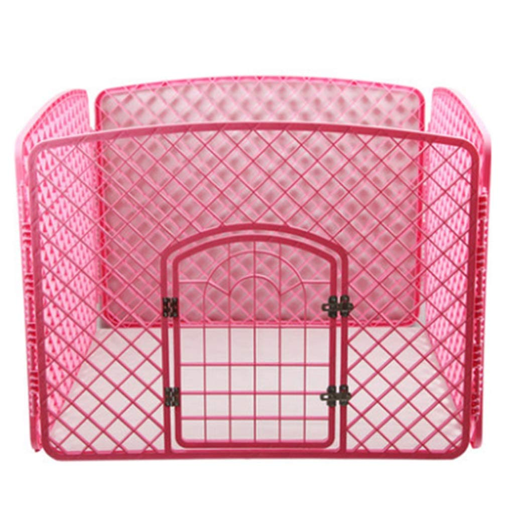 Red 100×100×78cm Red 100×100×78cm ZAQ Large Dog Fence with Gate, Portable Pet Cat Puppy Exercise Playpen House for Indoor Outdoor, Plastic, 4 Panel, bluee Red White (color   Red, Size   100×100×78cm)