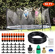 Trampoline Waterpark Sprinkle for Outdoor Misting Cooling System Kits Summer Game Toys Accessories for Kids Pa