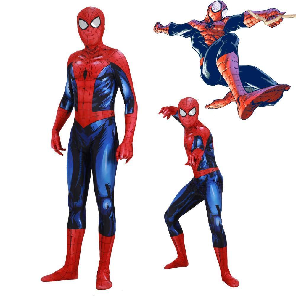 XXXL Luminous Spiderman Cosplay Costume Lycra Anime Costume 3D Digital Printing Tight Christmas Halloween Fancy Dress For Adult Wear XXXL