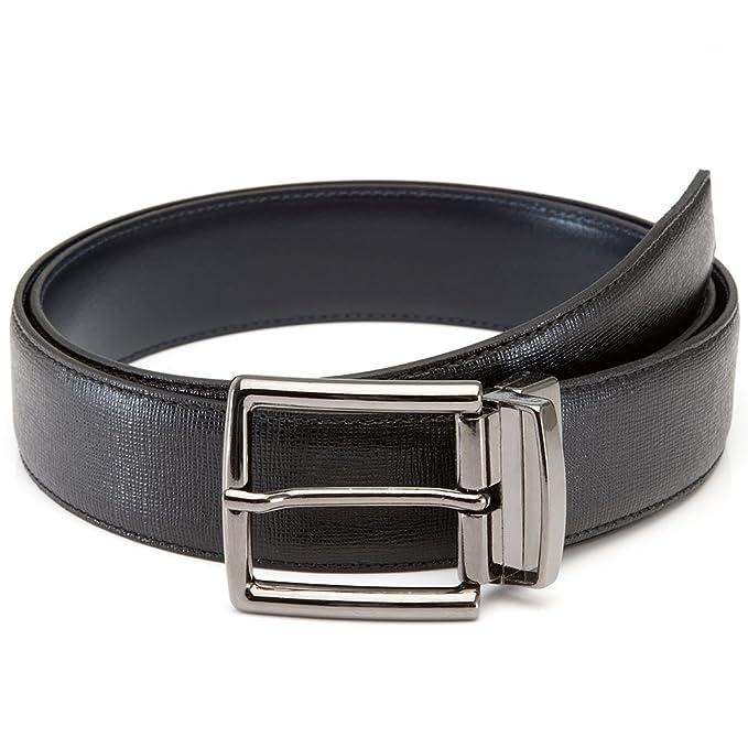 LUCHENGYI Cinturón Hombre Cuero Hebilla Reversible Cinturón de Piel . f97bde4aea6b