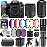 Holiday Saving Bundle for D7500 DSLR Camera + AF-P 70-300mm VR Lens + AF-P 18-55mm + 500mm Telephoto Lens + 6PC Graduated Color Filter + 2yr Extended Warranty + Battery - International Version