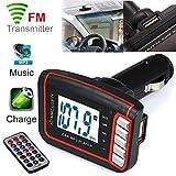 Bluetooth FM Transmitter, Dafana LCD Car MP3 MP4 Player Handsfree Wireless FM Transmitter Modulator SD/ MMC Card w/ Remote