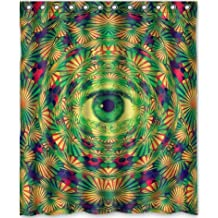 Popular Design Trippy Psychedelic Shower Curtain 60w X 72h