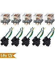 Ehdis [5 Set Socket de relé de Motor de camión de Coche con Conector Resistente