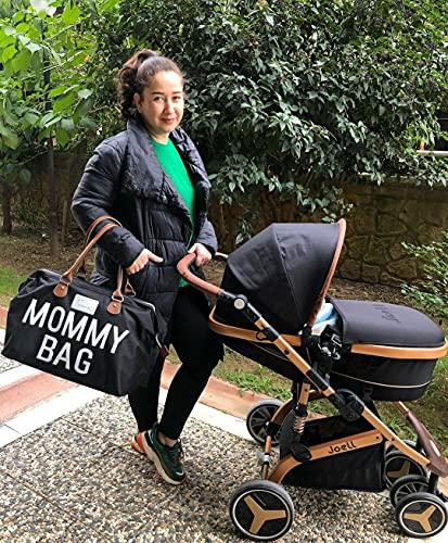 CHQEL Baby Diaper Bag, Mommy Bags for Hospital & Functional Large Baby  Diaper Travel Bag for Baby Care (Black) | Pricepulse