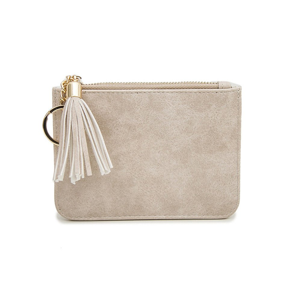 D Ms. Wallet by ZAIYI Ms. Mini Wallet Purse Women Short Small Fresh Students Thin Fringed Coin Bags,E