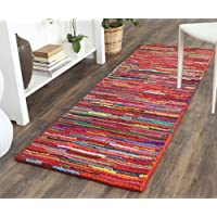 Safavieh Nantucket Collection NAN142A Handmade Abstract Pink and Multi Cotton Runner Rug (23 x 12)